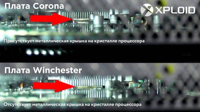 Отличие плат Corona и Winchester